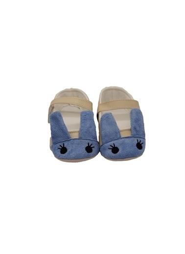 First Step Kulak Detaylı Bebek Babet  G-2116 Mavi